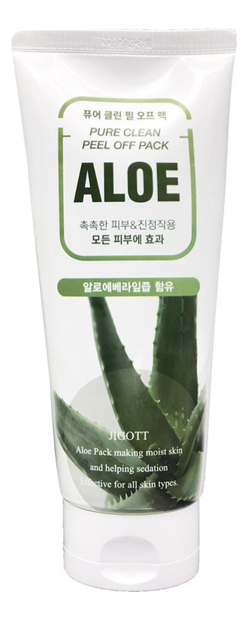Маска-пленка для лица на основе экстракта алоэ Aloe Pure Clean Peel Off Pack 180мл