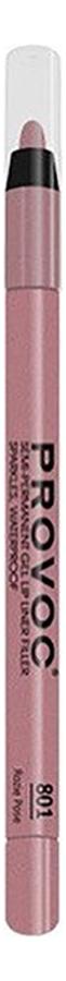 Полуперманентный гелевый карандаш для губ Gel Lip Liner Filler 1,2г: 801 Rozie Pose фото