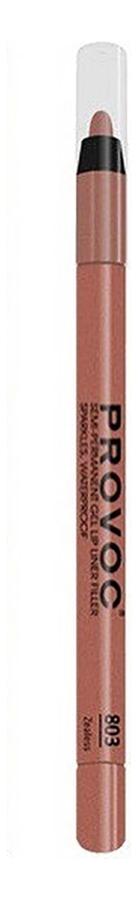 Полуперманентный гелевый карандаш для губ Gel Lip Liner Filler 1,2г: 803 Zealess