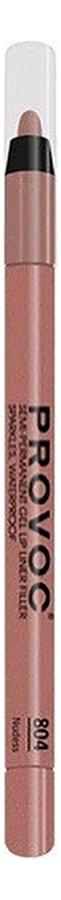 Купить Полуперманентный гелевый карандаш для губ Gel Lip Liner Filler 1, 2г: 804 Nudess, Provoc