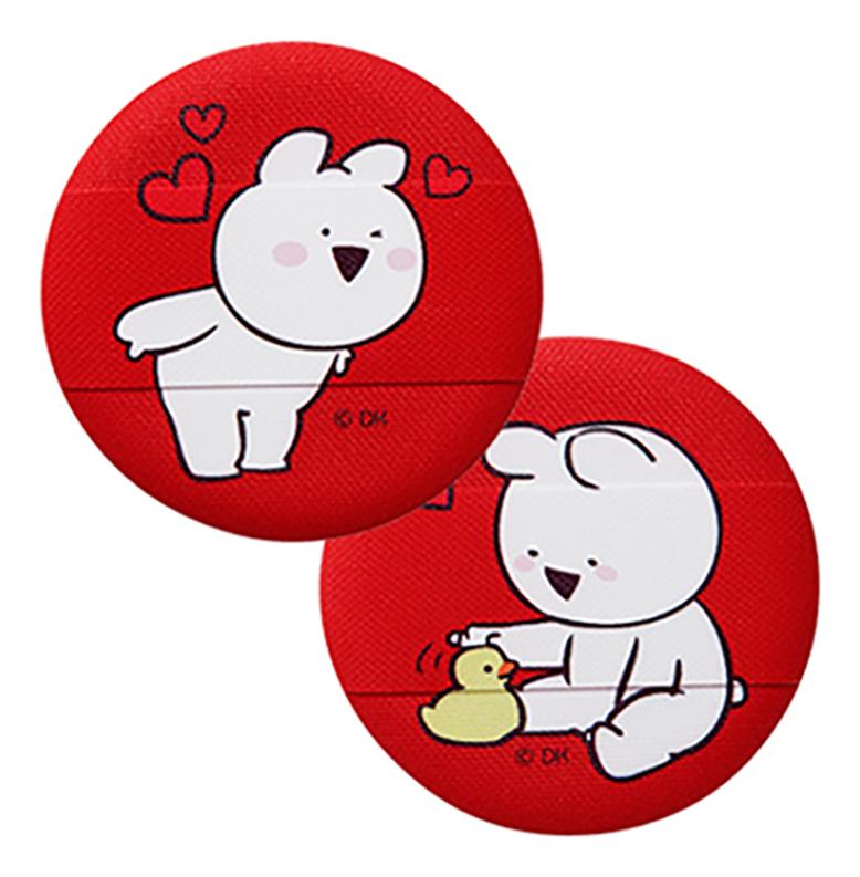 Спонж косметический для пудры Over Action Little Rabbit Love Me Cushion Puff 2шт: No 01