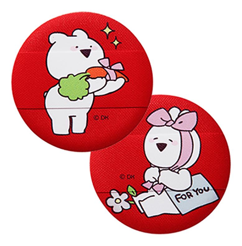 Спонж косметический для пудры Over Action Little Rabbit Love Me Cushion Puff 2шт: No 02
