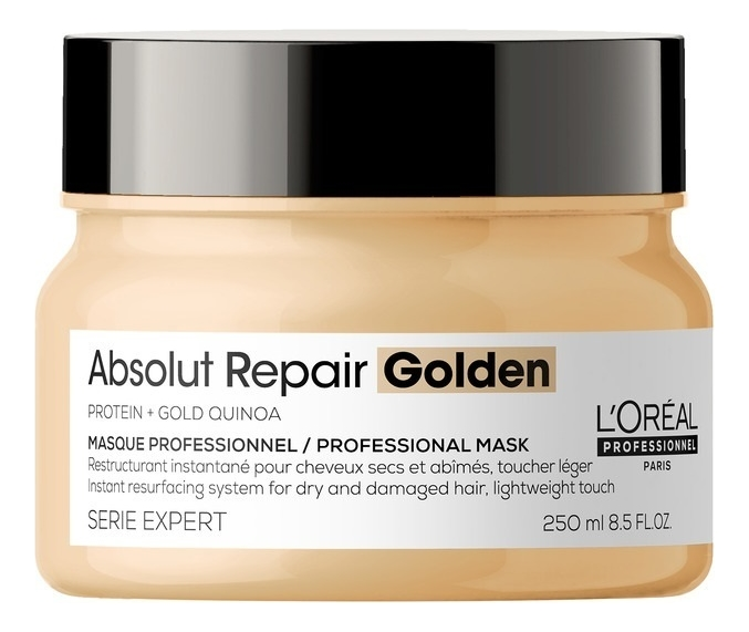 Золотая маска-крем для волос Serie Expert Absolut Repair Lipidium Gold Quinoa + Protein: Маска 250мл absolut repair cellular