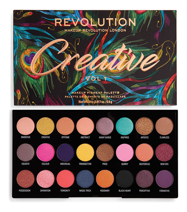 Палетка теней Eyeshadow Palette Creative revolution makeup 32 ultra eyeshadow palette mermaids forever