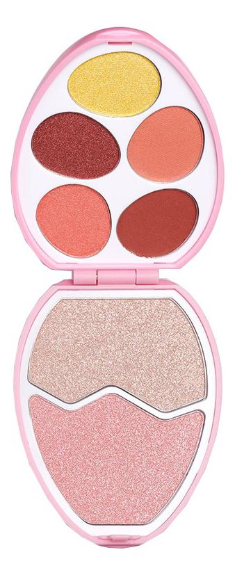 Палетка теней и румян I Heart Revolution Easter Egg Shadow Palette: Flamingo Egg