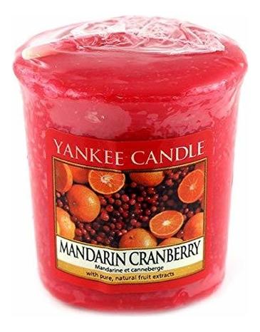 Купить Ароматическая свеча Mandarin Cranberry: Свеча 49г, Yankee Candle