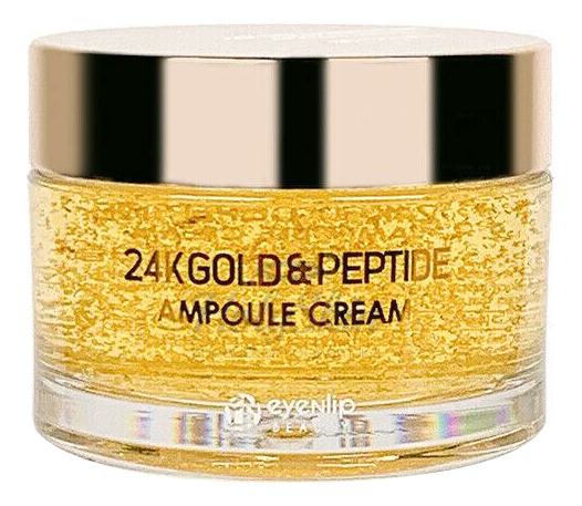 Купить Крем для лица с пептидами и золотом 24K Gold & Peptide Ampoule Cream 50г, Крем для лица с пептидами и золотом 24K Gold & Peptide Ampoule Cream 50г, Eyenlip