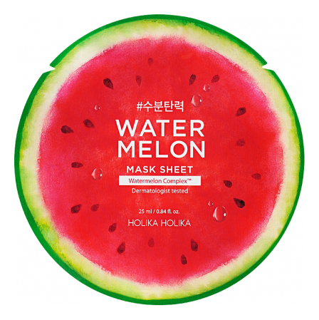 Тканевая маска для лица с экстрактом арбуза Water Melon Mask Sheet 25мл