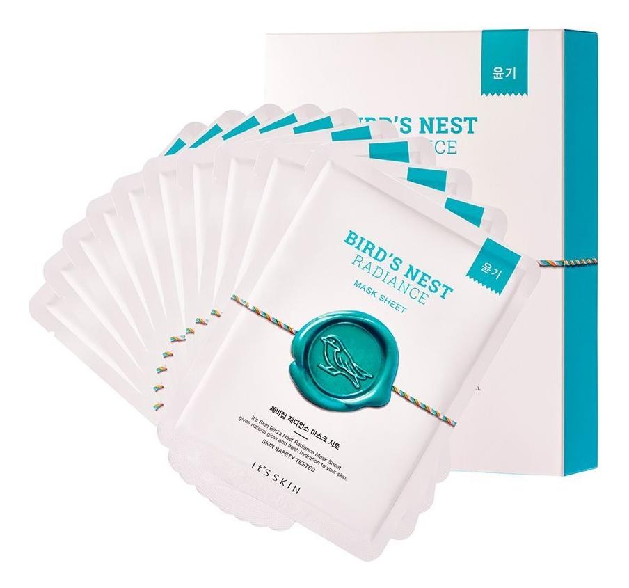 Купить Тканевая маска для лица омолаживающая Bird's Nest Radiance Mask Sheet 22г: Маска 10шт, It's Skin