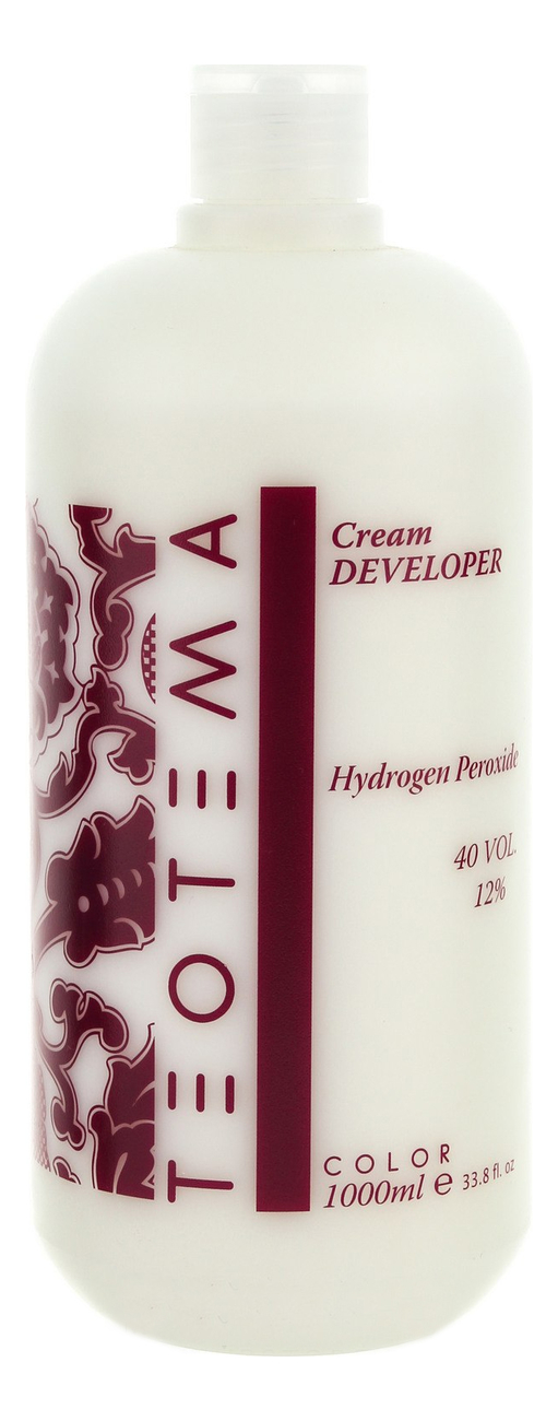 Купить Крем проявитель для окрашивания волос Color Cream Developer 12% (40 vol): Крем 1000мл, Teotema
