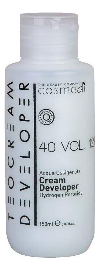 Купить Крем проявитель для окрашивания волос Color Cream Developer 12% (40 vol): Крем 150мл, Teotema