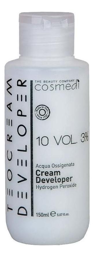 Крем-проявитель для окрашивания волос Color Cream Developer 3% (10 vol): Крем-проявитель 150мл, Teotema  - Купить