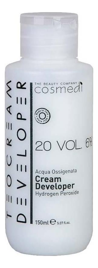 Купить Крем-проявитель для окрашивания волос Color Cream Developer 6% (20 vol): Крем-проявитель 150мл, Teotema