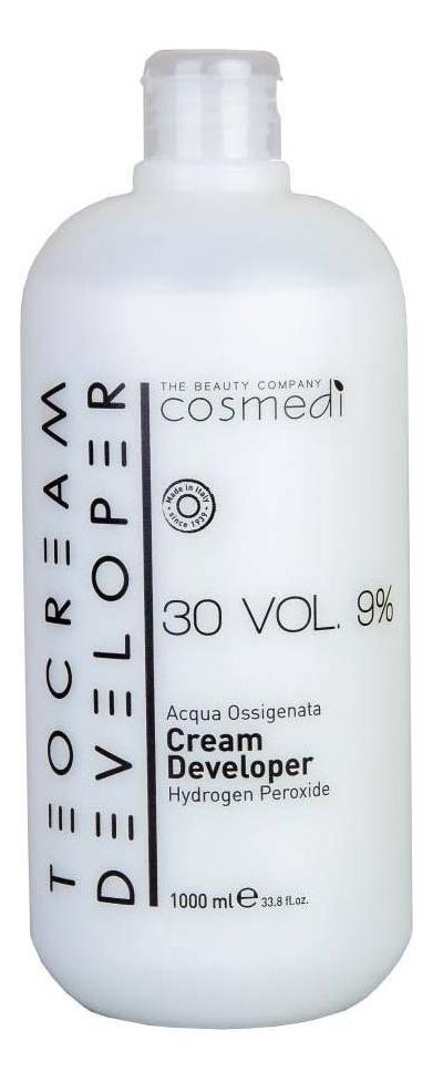 Купить Крем-проявитель для окрашивания волос Color Cream Developer 9% (30 vol): Крем-проявитель 1000мл, Teotema