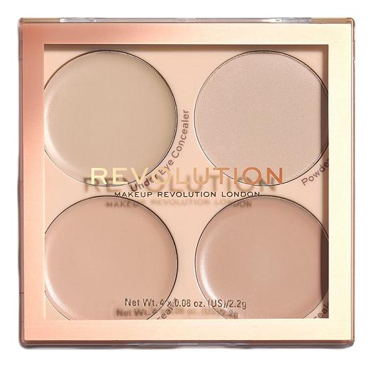 Палетка для макияжа лица Matte Base Concealer Palette Kit 2,2г: C1-4