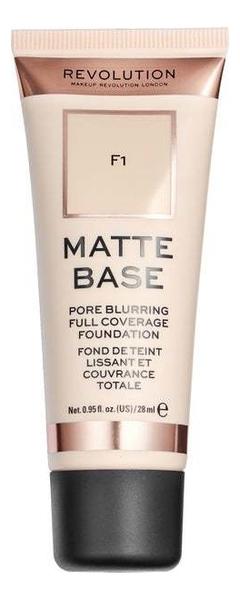 Купить Тональная основа для лица Matte Base 28мл: F1, Makeup Revolution