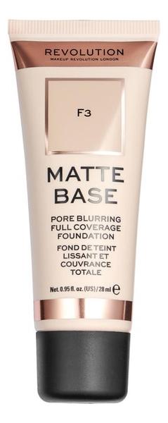 Купить Тональная основа для лица Matte Base 28мл: F3, Makeup Revolution