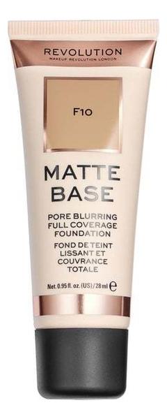 Купить Тональная основа для лица Matte Base 28мл: F10, Makeup Revolution
