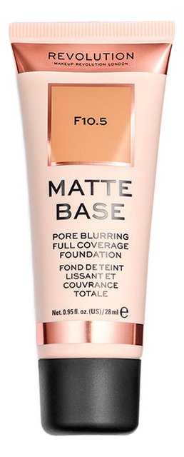 Купить Тональная основа для лица Matte Base 28мл: F10.5, Makeup Revolution