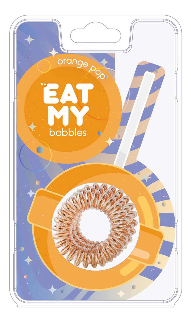 Купить Резинка для волос Orange Pop 3шт (оранжевая), EAT MY bobbles