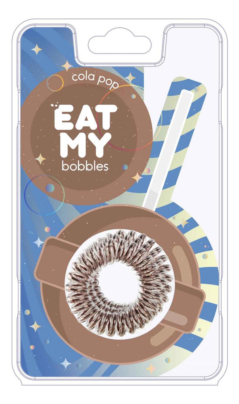 Резинка для волос Cola Pop 3шт (коричневая) резинка для волос black chocolate 3шт черная