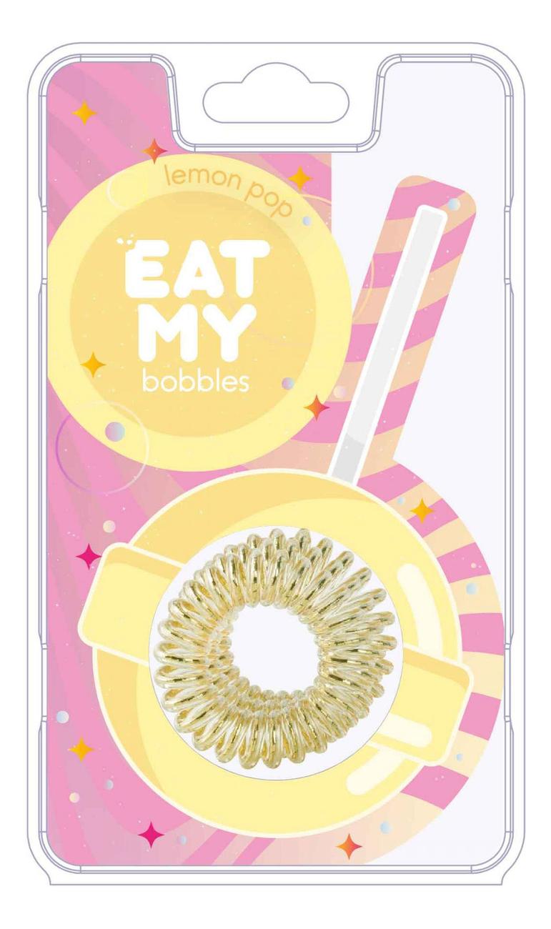 Купить Резинка для волос Lemon Pop 3шт (желтая), EAT MY bobbles