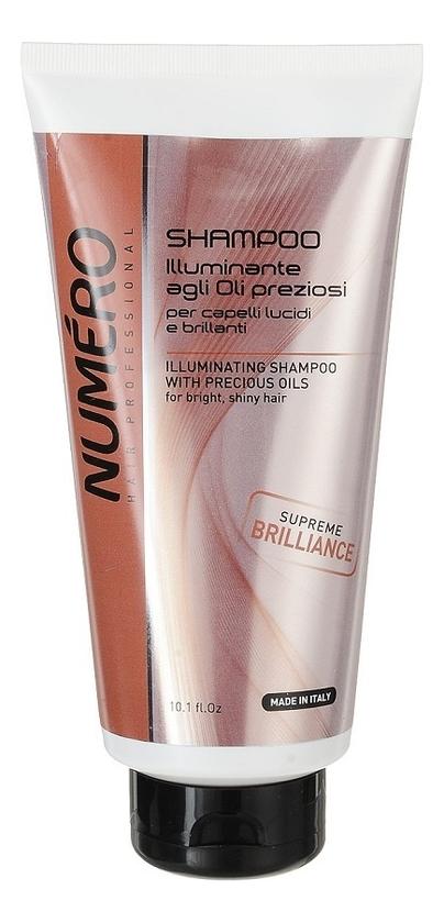 Купить Шампунь для придания бриллиантового блеска с макасаровым маслом и кератином Numero Beauty Shampoo With Macassar Oil: Шампунь 300мл, Brelil Professional