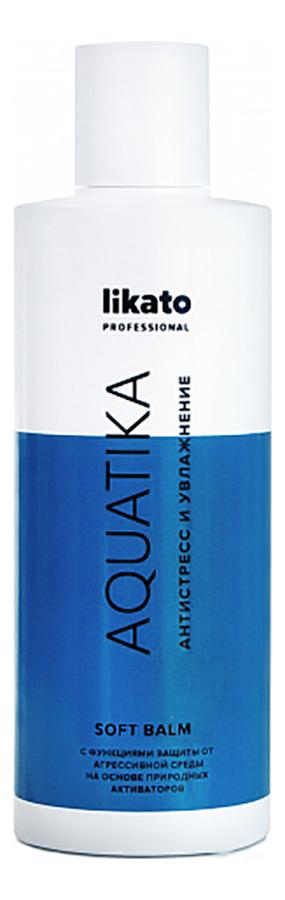 Купить Софт-бальзам для волос с соком алоэ вера и маслом конопли Aquatika: Софт-бальзам 250мл, Likato