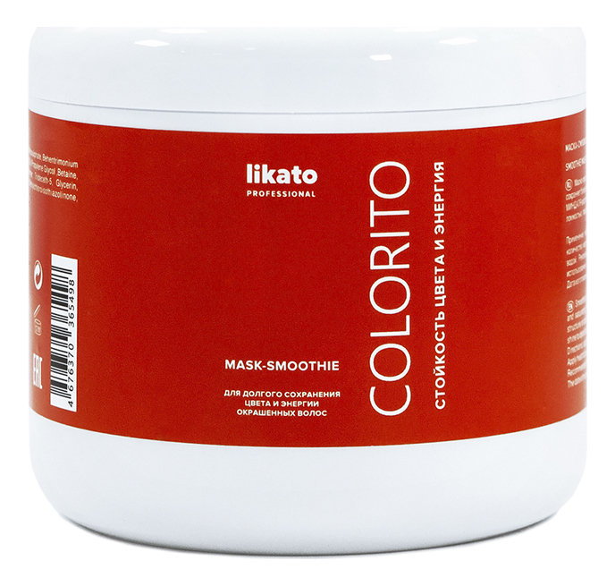Маска-смузи для волос с маслом макадамии и маслом сладкого миндаля Colorito: Маска-смузи 500мл