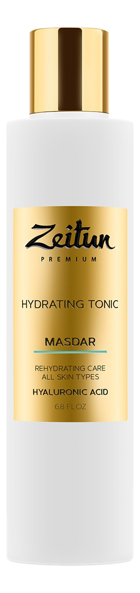 Купить Увлажняющий тоник для лица с гиалуроновой кислотой Premium Masdar Hydrating Tonic 200мл, Zeitun