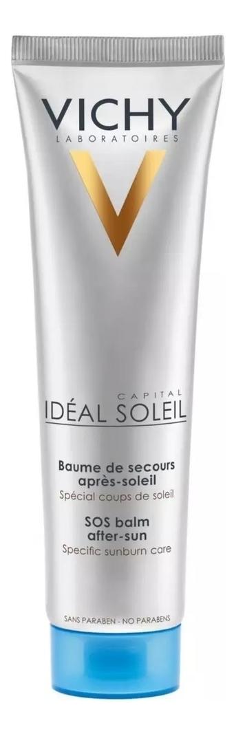 Бальзам против ожогов Ideal Soleil After Sun SOS Balm 100мл бальзам против ожогов 100 мл термальная вода 50 мл vichy ideal soleil