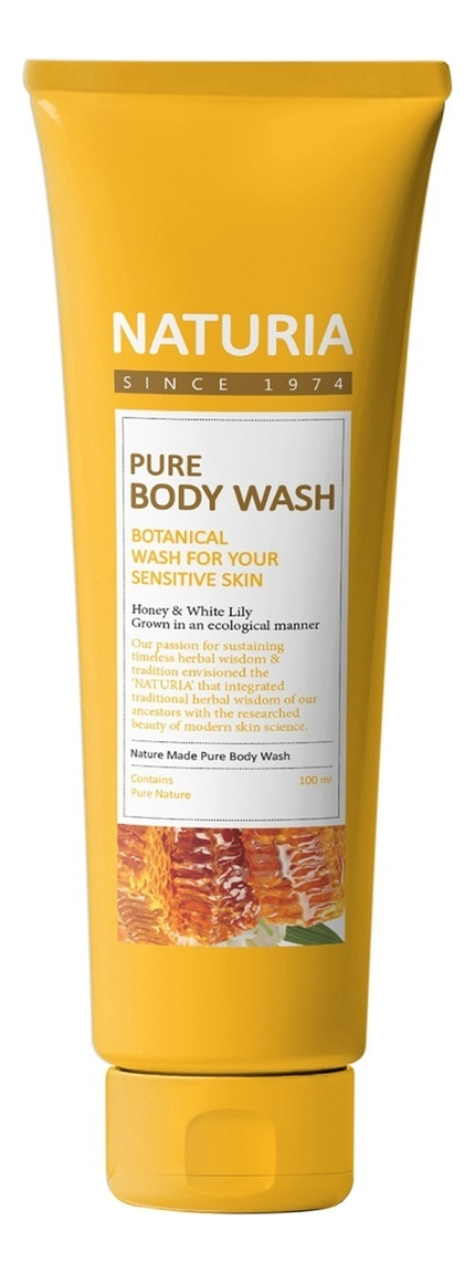 Купить Гель для душа Мед и лилия Naturia Pure Body Wash Honey & White Lily: Гель 100мл, Гель для душа Мед и лилия Naturia Pure Body Wash Honey & White Lily, Evas Cosmetics