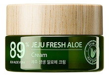 The Saem Крем для лица с экстрактом алоэ вера Jeju Fresh Aloe 89% Cream 50мл