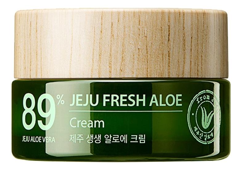 Купить Крем для лица с экстрактом алоэ вера Jeju Fresh Aloe 89% Cream 50мл, The Saem