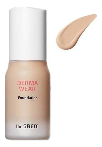 Купить Тональная основа для лица Derma Wear Foundation SPF47 PA++ 30мл: 01 Light Beige, The Saem