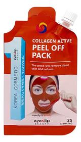 Маска-пленка для лица с коллагеном Collagen Active Peel Off Pack 25г успокаивающая увлажняющая гидрогелевая маска для лица с коллагеном aqua collagen hydrogel mask 25г