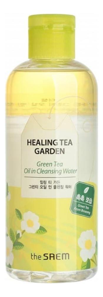 Очищающая вода для снятия макияжа с маслом зеленого чая Healing Tea Garden Green Tea Oil In Cleansing water 300мл очищающая вода для снятия макияжа jeju sparkling cleansing water 510мл