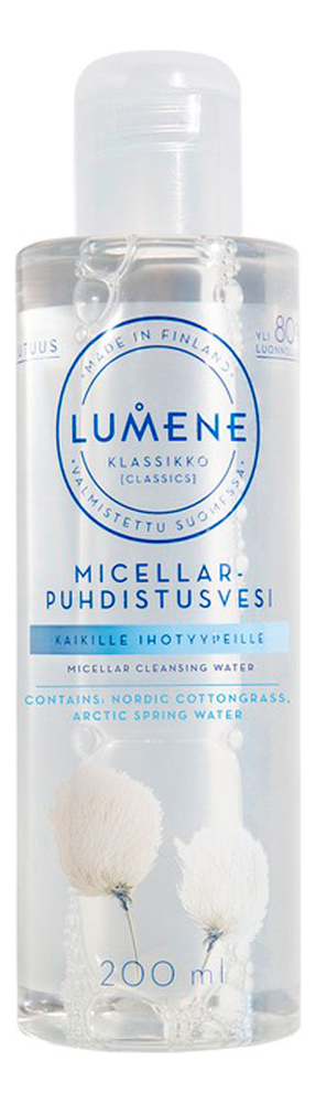 Мицеллярная вода для лица Klassikko Micellar Cleansing Water 200мл lumene herkka soothing cleansing milk