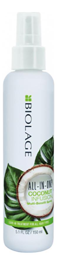 Несмываемый многофункциональный спрей для волос Biolage All in One Coconut Infusion Multi-Benefit Spray 150мл