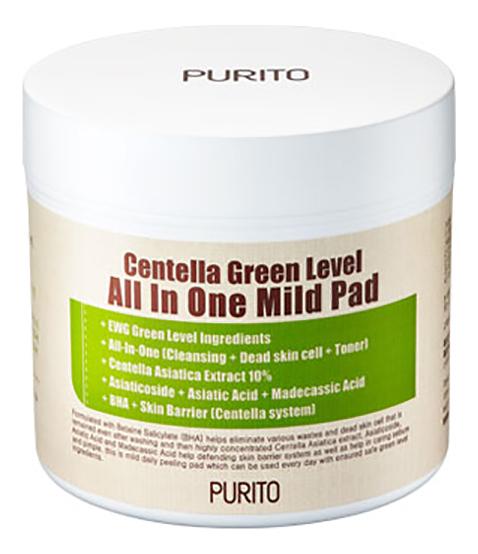 Очищающие подушечки для лица Centella Green Level All In One Mild Pad 70шт