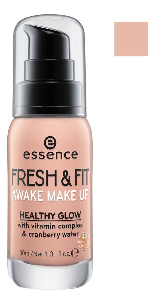 Тональная основа Fresh & Fit Awake Make Up 30мл: 40 Sun Beige