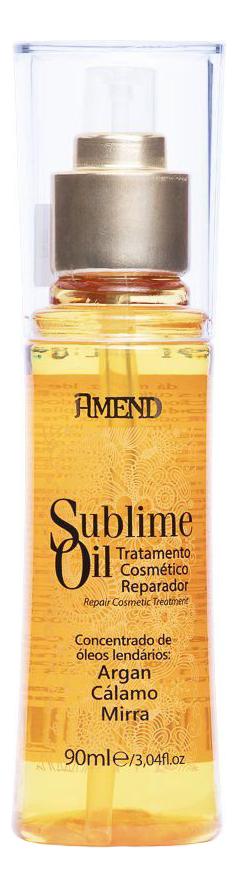 Купить Аргановое масло для волос с антиоксидантами и витаминами Sublime Oil 90мл, Amend