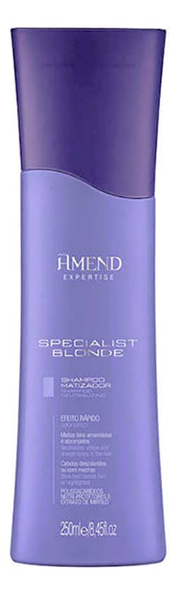 Шампунь для волос Neutralizing Specialist Blond Shampoo 250мл amend кондиционер conditioner neutralizing specialist blond нейтрализация желтизны 250 мл