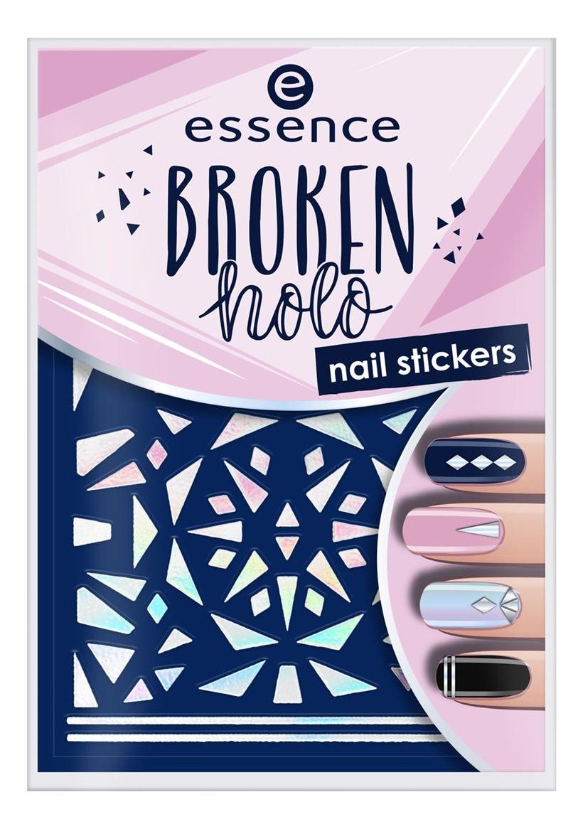 Наклейки для ногтей Broken Holo Nail Stickers