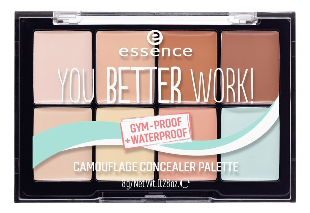 Палетка для лица You Better Work! Gum-Proof Waterproof Camouflage Concealer Palette 8г