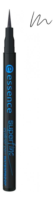Водостойкая подводка для глаз Super Fine Eyeliner Pen Waterproof 1мл: Black