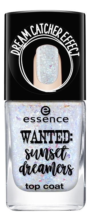 Верхнее матовое покрытие для ногтей Wanted: Sunset Dreamers Top Coat 8мл: No 03 essence верхнее покрытие для лака wanted sunset dreamers top coat 3 цвета 03 dream catcher