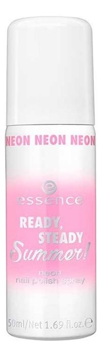 Спрей-лак для ногтей Ready, Steady, Summer! Neon Nail Polish Spray 50мл: 01 Run, Baby Run! essence the gel nail лак для ногтей серо синий тон 51 8 мл