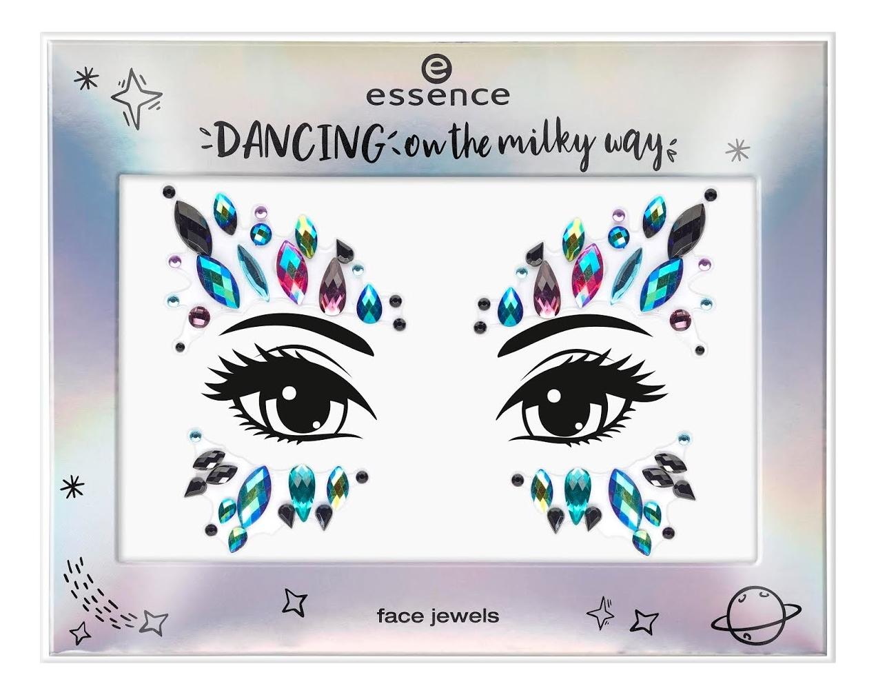 Наклейки-украшения для лица Dancing On The Milky Way Face Jewels No01