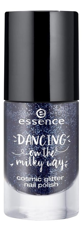 Купить Лак для ногтей Dancing On The Milky Way Cosmic Glitter Nail Polish 8мл: 01 Molted Night Sky, essence